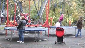Spielplatz für Kinder stock footage