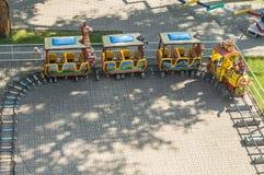 Spielplatz für Kinder in der russischen Stadt von Kaluga Stockfotografie