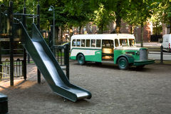 Spielplatz in Finnland Stockfotos