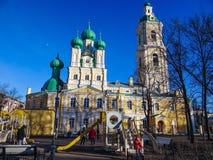Spielplatz im orthodoxen Tempel Lizenzfreie Stockfotografie