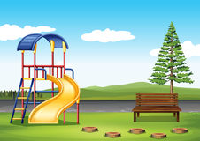 Spielplatz ing der Park stock abbildung