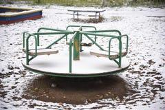 Spielplatz: Karussell Lizenzfreies Stockbild