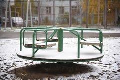 Spielplatz: Karussell Stockfotografie