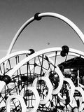 Spielplatz-Nostalgie Stockfoto