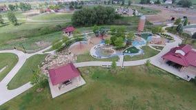 Spielplatz an Sandstein-Ranch 01 lizenzfreies stockbild