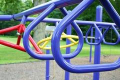 Spielplatz-Stangen Stockfotos