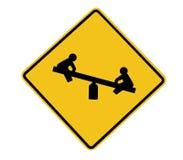 Spielplatz-Verkehrsschild Stockbild
