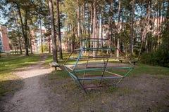 Spielplatz in Visaginas-Stadt, Litauen Lizenzfreies Stockbild