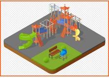 Spielplatzvektor isometrisch Lizenzfreie Stockfotografie