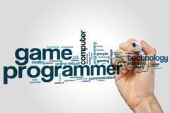 Spielprogrammierer-Wortwolke Lizenzfreie Stockbilder