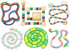 Spielschablonen Stockbilder
