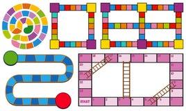Spielschablonen in den verschiedenen Farben Stockbild