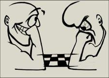 Spielschach mit zwei Männern Lizenzfreie Abbildung