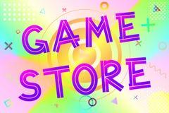 Spielspeichertext Lizenzfreies Stockfoto