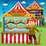 Spielstände am Karneval vektor abbildung