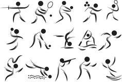 Spielsymbole Stockbild