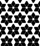 Spielt modernes nahtloses Geometriemuster des Vektors, Schwarzweiss-Zusammenfassung die Hauptrolle Stockbilder