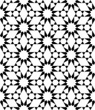 Spielt modernes nahtloses heiliges Geometriemuster des Vektors, Schwarzweiss-Zusammenfassung die Hauptrolle Lizenzfreie Stockbilder