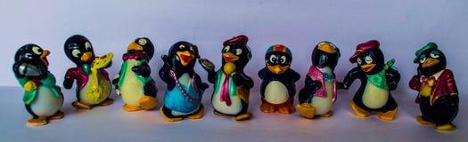 Spielt Pinguine Lizenzfreies Stockbild