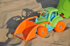Spielt Traktor Lizenzfreie Stockbilder