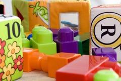 Spielwaren auf dem Fußboden 1 Stockbilder
