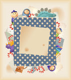 Spielwaren, Bonbons u. Papier Stockbild
