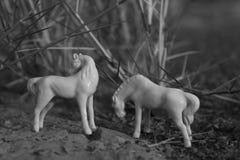 Spielwaren in der Nahaufnahme im Fluss lizenzfreie stockbilder