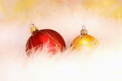 Spielwaren des neuen Jahres oder des Weihnachten, Karte Lizenzfreie Stockfotos