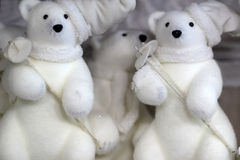 Spielwaren des weißen Bären Lizenzfreie Stockfotos