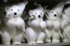 Spielwaren des weißen Bären Lizenzfreie Stockbilder