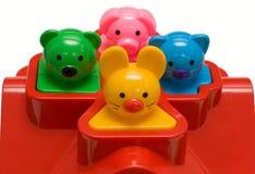 Spielwaren in einer Zelle Stockfoto