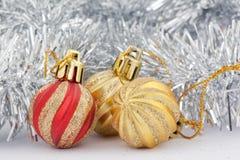 Spielwaren für Weihnachtsbaum Lizenzfreies Stockfoto