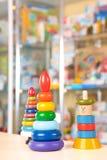 Spielwaren im Markt Stockbild