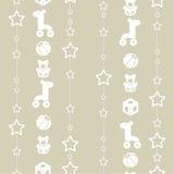 Spielwaren und Girlande von Sternen lizenzfreie abbildung