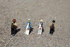 Spielwaren von Westleuten auf Pferden Lizenzfreies Stockbild