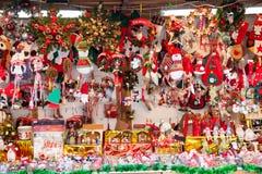 Spielwaren am Weihnachtsmarkt Lizenzfreies Stockfoto
