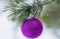 Spielzeug auf dem Weihnachtsbaum Lizenzfreie Stockfotografie