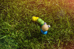 Spielzeug auf Gras Lizenzfreie Stockbilder