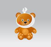 Spielzeug-Bär mit Zahn-Schmerz Stockfotografie