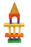 Spielzeug-Block-Kontrollturm Stockfotografie