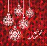Spielzeug des neuen Jahres oder des Weihnachten hergestellt von den Schneeflocken Stockfotos