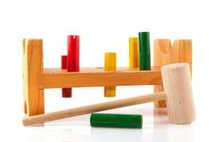 Spielzeug für den kleinen Tischler Stockbild