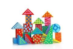Spielzeug - Farbhölzerner Block Lizenzfreie Stockbilder