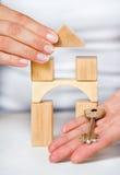 Spielzeug-Haus Stockfoto