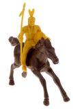 Spielzeug-Inder auf Pferd Lizenzfreies Stockbild