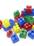 Spielzeug lego Blockaufbau-Ausbildungskindheit Stockbild