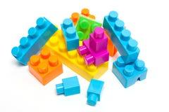 Spielzeug lego Blockaufbau-Ausbildungskindheit Stockfotos