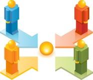 Spielzeug-Leute ISO_Go, zum des Punktes zu fokussieren Stockfotos