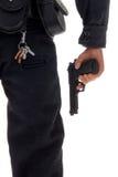 Spielzeug-Polizeibeamte mit Gewehr Lizenzfreies Stockfoto