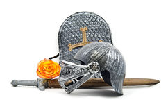 Spielzeug-Rüstung des Ritters Lizenzfreie Stockfotos